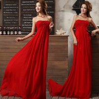 2013 Hot Gorgeous Red A-line Floor-Length Prom Dress
