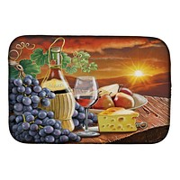 Chianti, Pears, Wine and Cheese Dish Drying Mat PRS4029DDM