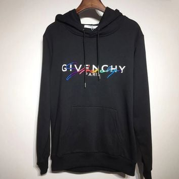 GIVENCHY Popular Women Men Casual Print Embroidery Hoodie Cute Sweater Sweatshirt