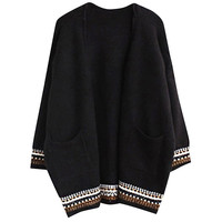 Geo Pattern Cover-up Sweater