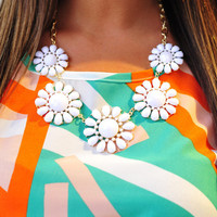 Bouquet For You Necklace: White | Hope's