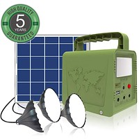 WAWUI Portable Power Station, Solar Generator with Solar Panel & Flashlights for Home Emergency Backup Power, Camping Lights with Battery, USB DC Outlets, for Travelling Fishing Hunting (42Wh) 42Wh