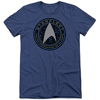 Star Trek Beyond Starfleet Patch Adult Soft Tri Blend T-Shirt