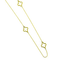10k Yellow Gold Necklace - Clover