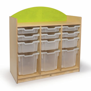 Whitney Brothers Rainbow Tray Storage Cabinet Green WB8303G