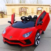 Children's electric car four-wheeled kart can sit male and female baby remote control toy car inflatable wheel kid motorcycle