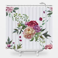 Pretty Peonies Shower Curtain