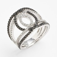 Bony Levy 'Double Interlock' Diamond Cocktail Ring (Nordstrom Exclusive)