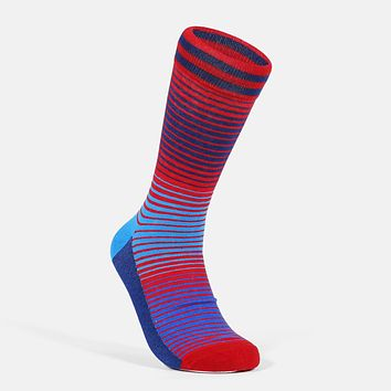 Colorful Stripes Style America Casual Socks
