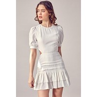 Lacey Puff Sleeve Dress