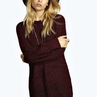 Hena Soft Marl Knit Jumper Dress