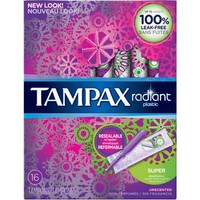 Tampax Radiant Plastic Unscented Super Absorbent Tampons, (Choose your Count) - Walmart.com