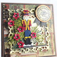 Nutcracker Card - Shabby Chic Card, Blessed Christmas Card - Nutcracker Christmas Cards - Handmade Christmas Cards - Holiday Cards