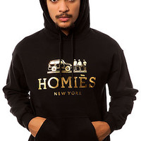 The Homies Hoodie in Black With Gold