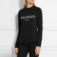 Balmain Women Black Top Sweater Pullover Sweatshirt