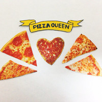 Pizza stickers (set of 6)