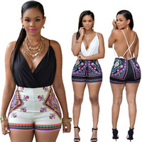New Deep V Neck Summer Playsuit Macacao Rompers Womens Jumpsuits Party Sleeveless Sexy Jumpsuit Night Club Bodycon Jumpsuit