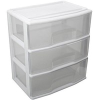 Homz Large 3 Drawer Wide Cart, Multiple Colors - Walmart.com