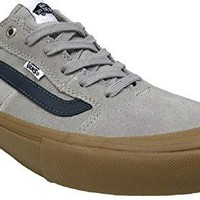 Vans Men's Style 112 Pro Skate Shoe (12.0 D(M) US Mens, Drizzle/Dress Blue/Gum)