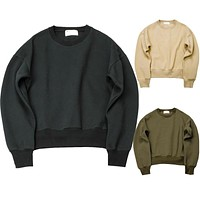 2016 new Sweatshirts simple solid men's Hoodies oversize drooping shoulders men's tops KANYE WEST FOG YEEZY SEASON