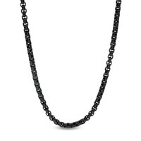 Men's Shaquille O'Neal 3.75mm Signature Tag Chain Necklace in Black Ion-Plated Stainless Steel - 30