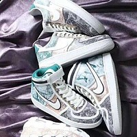Nike Vandal High Supreme breathable wear-resistant high-top sneakers shoes white