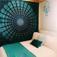 Indian Mandala Tapestry Wall Hanging Hippie Elephant Bedspread Ethnic Beach Towel Throw Tablecloth Carpet Yoga Mat Home Decor