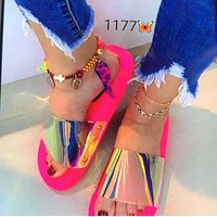 Fashion women's shoes sandals slippers sequined shoes beach shoes