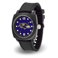 Baltimore Ravens NFL Prompt Watch with Team Color and Logo