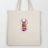 Stag Beetle Tote Bag by Deniz Erçelebi
