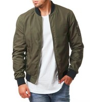 Men's Casual Street Style Bomber Jacket