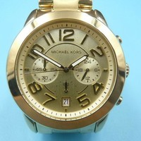 New Old Stock MICHEAL KORS 42mm Gold Plated MK5726 Quartz Men Watch