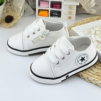 ECN kids fashion child sneakers shoes baby toddler shoes boys girls sneakers shoe child canvas flat causual shoes