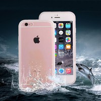 Waterproof Case For Iphone 6 6s Plus Coolest 360 Full Body Water Proof Swim Diving Phone Cases Clear Soft TPU Front & Back Cover