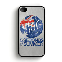 5 Seconds Of Summer Britain Flag iPhone 4 4S Case
