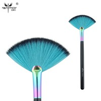 Anmor Professional Makeup Brush Fan Shape Powder Make Up Brushes with Rainbow Color Ferrule CFCA-A23