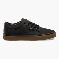Vans Chukka Low Mens Shoes Washed Black/Gum  In Sizes