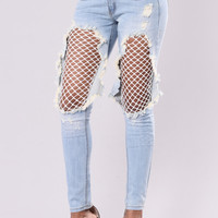 Rebel Jeans - Light/White