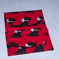 Scottie Dogs Red and Black Gift Card Holder Case Set of Two