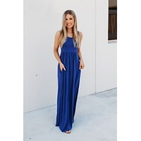 Modestly Posed Racerback Maxi (Royal Blue)