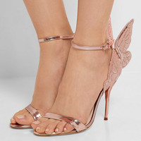 Sophia Webster - Chiara metallic embroidered leather sandals