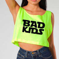 Rave Clothes - Bad Kids Shirts - Womens Neon Crop Tops - Bad Kids Clothing | Bad Kids Clothing