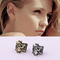 Delicate Hollow Flower Cartilage Earring Ear Clip Cuff Wrap No Piercing CA03