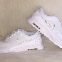 Icy Bling Nike Thea Sneakers