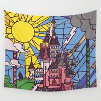 The Enchanted Castle Wall Tapestry by Studiomarshallarts