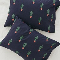 Blue Cactus Print Duvet Cover Set | Urban Outfitters