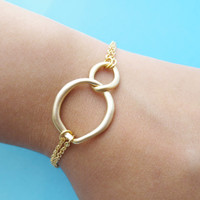 Infinity, Love, Bracelet, Circle, Gold, Silver, Necklace, Double, Karma, Wedding, Bridesmaid, Birthday, Friendship, Gift, Jewelry