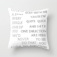 Best Song Ever Throw Pillow by S. L. Hurd