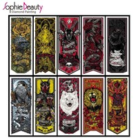 DIY Diamond Painting Posters Full Square Rhinestones Cross Stitch Mosaic Embroidery Home Decoration Game Thrones Crafts
