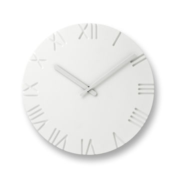 Carved Clock w/ Roman Numerals design by Lemnos